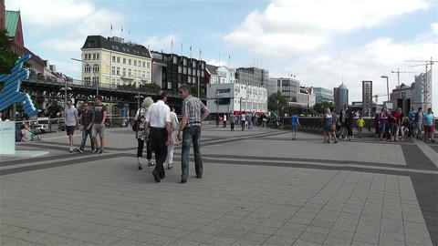 Hamburg Germany Landungsbrucken 1 Stock Video Footage