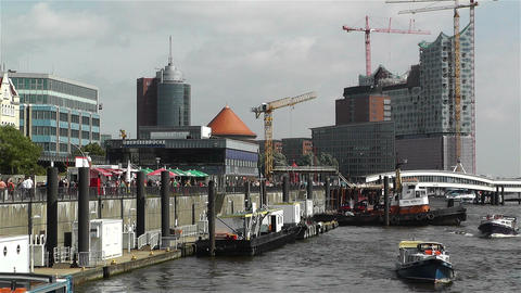 Hamburg Germany Landungsbrucken 7 Footage