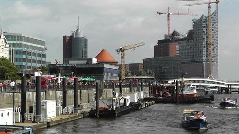 Hamburg Germany Landungsbrucken 7 Stock Video Footage