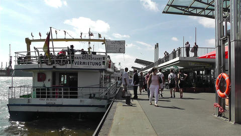 Hamburg Germany Landungsbrucken 9 port Footage