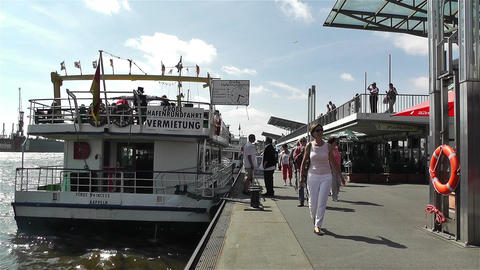Hamburg Germany Landungsbrucken 9 port Stock Video Footage