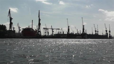 Hamburg Germany Landungsbrucken 11 port Stock Video Footage