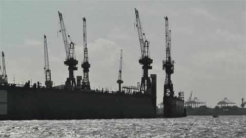 Hamburg Germany Landungsbrucken 13 port Stock Video Footage