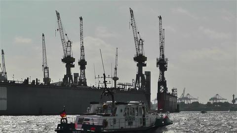 Hamburg Germany Landungsbrucken 13 port Footage