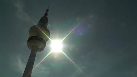 Heinrich Hertz Tower Hamburg Germany 1 Stock Video Footage