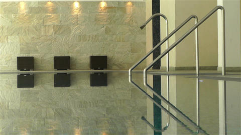 Indoor Swimming Pool 2 Stock Video Footage