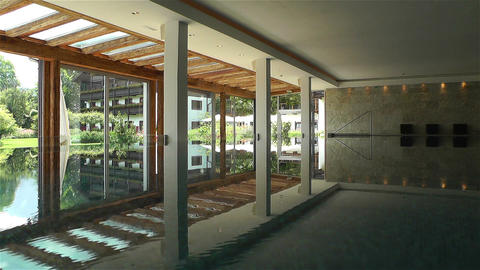 Indoor Swimming Pool 4 reflections Footage