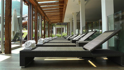 Indoor Wellness Relaxation Area 1 Stock Video Footage