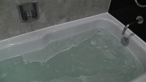 Leak Water from Bathtube Washbasin Timelapse 1 Stock Video Footage