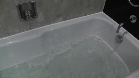 Leak Water from Bathtube Washbasin Timelapse 1 Footage