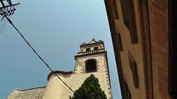 Mediterranean Buildings 2 pan Stock Video Footage