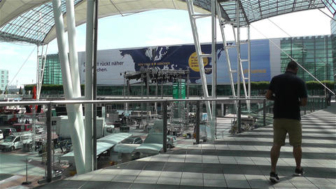 Munich Airport Germany Exterior 1 Stock Video Footage