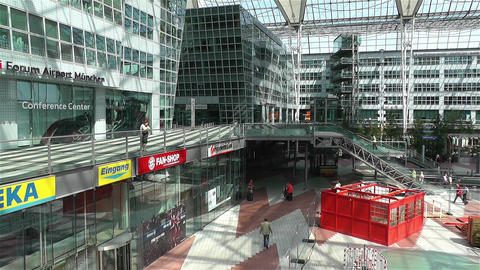 Munich Airport Germany Exterior 3 Footage