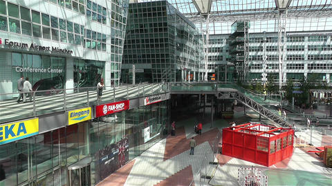 Munich Airport Germany Exterior 3 Stock Video Footage