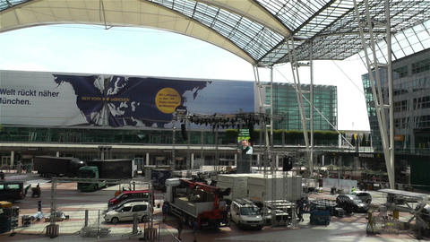 Munich Airport Germany Exterior 5 Stock Video Footage