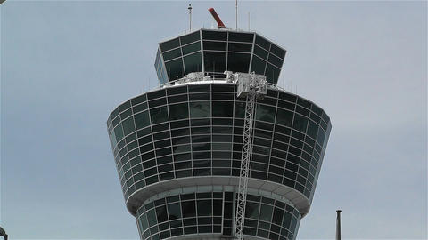 Munich Airport Germany Exterior 7 tower Stock Video Footage