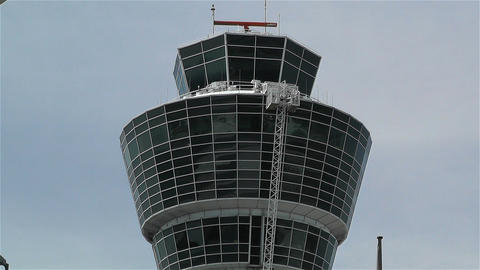 Munich Airport Germany Exterior 7 tower Footage