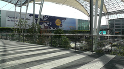 Munich Airport Germany Exterior 9 Stock Video Footage