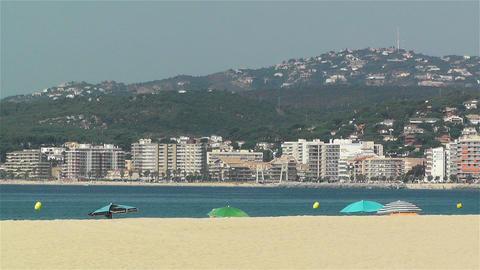 Palamos Beach Costa Brava Spain 4 Stock Video Footage