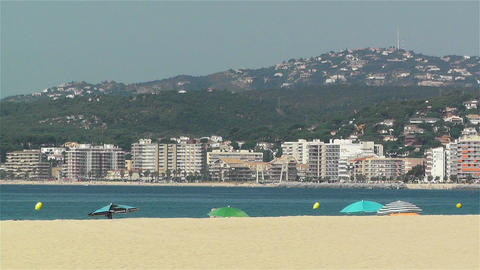 Palamos Beach Costa Brava Spain 4 Footage