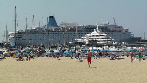 Palamos Beach Costa Brava Spain 6 Stock Video Footage