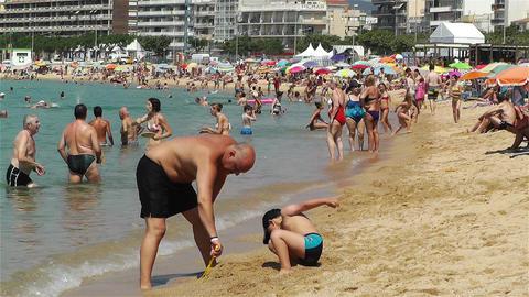 Palamos Beach Costa Brava Spain 8 Stock Video Footage