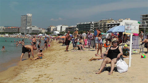 Palamos Beach Costa Brava Spain 10 Stock Video Footage