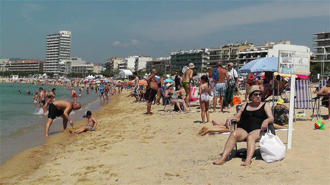 Palamos Beach Costa Brava Spain 10 Footage