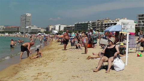 Palamos Beach Costa Brava Spain 10 Stock Video Footage