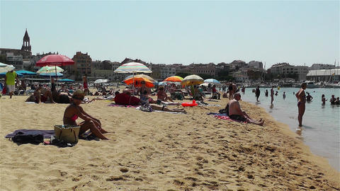 Palamos Beach Costa Brava Spain 12 Stock Video Footage