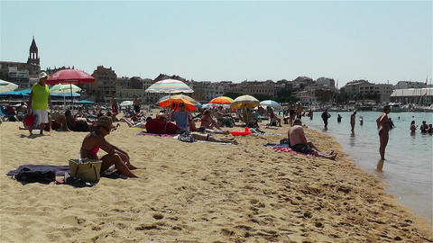 Palamos Beach Costa Brava Spain 12 Footage