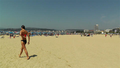 Palamos Beach Costa Brava Spain 14 Stock Video Footage