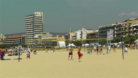Palamos Beach Costa Brava Spain 16 Stock Video Footage