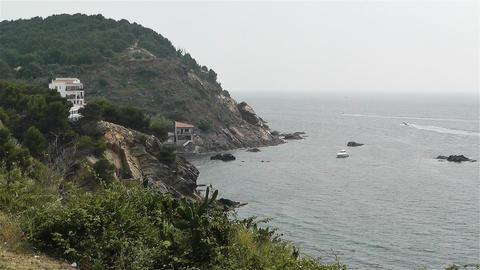 Palamos Beach Costa Brava Spain 31 rocky Stock Video Footage