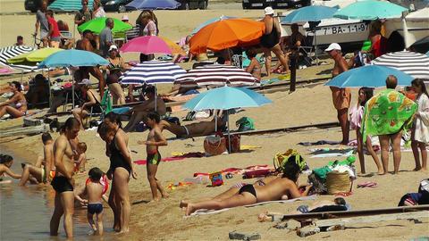 Palamos Beach Costa Brava Spain 35 Stock Video Footage