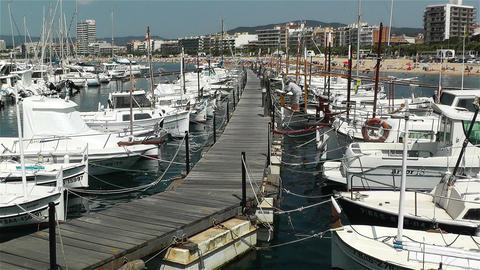 Palamos Costa Brava Spain 1 port Stock Video Footage