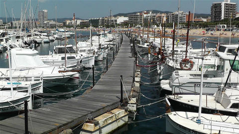 Palamos Costa Brava Spain 1 port Footage