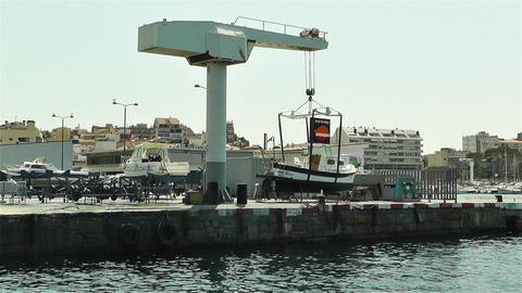 Palamos Costa Brava Spain 3 port Stock Video Footage