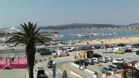 Palamos Street Costa Brava Catalonia Spain 7 Footage