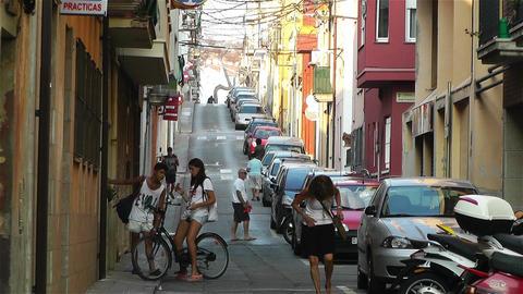 Palamos Street Costa Brava Catalonia Spain 9 Footage
