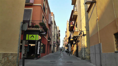 Palamos Street Costa Brava Catalonia Spain 11 Stock Video Footage