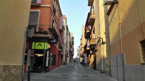 Palamos Street Costa Brava Catalonia Spain 11 Stock Video Footage