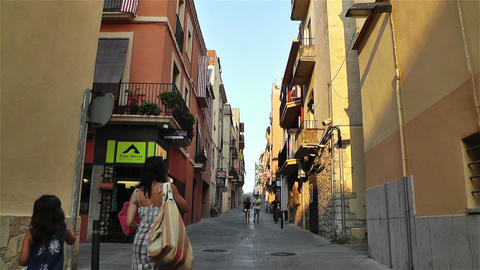Palamos Street Costa Brava Catalonia Spain 11 Footage