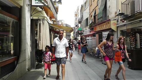 Palamos Street Costa Brava Catalonia Spain 15 Stock Video Footage