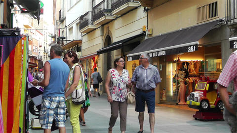 Palamos Street Costa Brava Catalonia Spain 19 Stock Video Footage