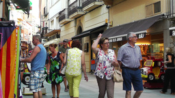 Palamos Street Costa Brava Catalonia Spain 19 Footage
