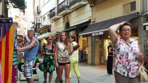 Palamos Street Costa Brava Catalonia Spain 19 Stock Video Footage