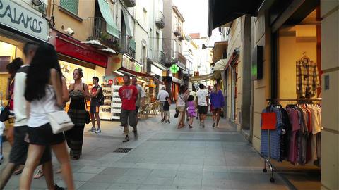 Palamos Street Costa Brava Catalonia Spain 21 Stock Video Footage