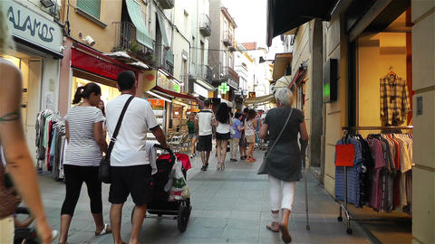 Palamos Street Costa Brava Catalonia Spain 21 Stock Video Footage
