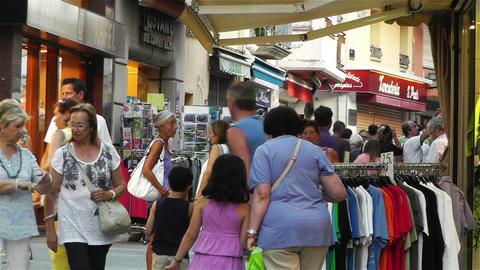 Palamos Street Costa Brava Catalonia Spain 23 Stock Video Footage
